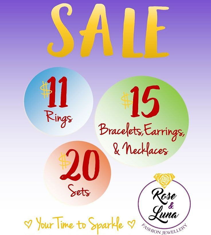 Mid Season Sale On NOW! Treat yourself or a friend! #givejewellery #roseandluna #sparkleeveryday