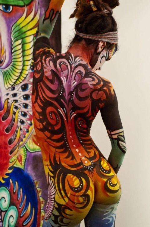Shame Graffiti Body Paint