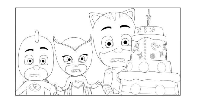 Pj Masks Party Printables For Free Pj Masks Coloring Pages Pj