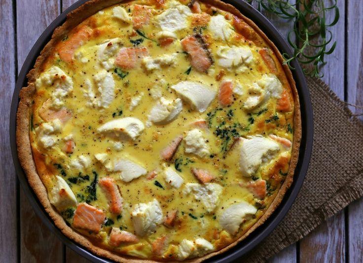 laksetærte med spinat og ricotta, www.bydianawi.com