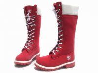 Cheap Timberland Women 14 Inch Boots Red White