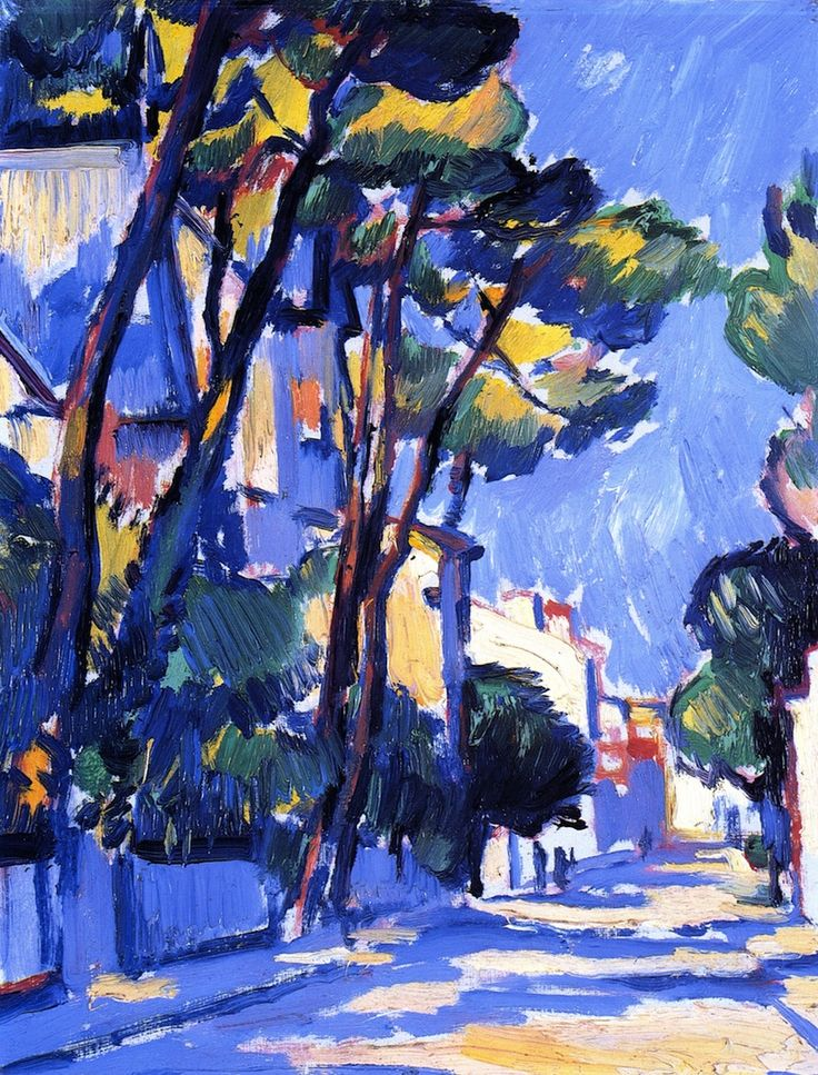Street Scene, France (Samuel John Peploe - circa 1910)