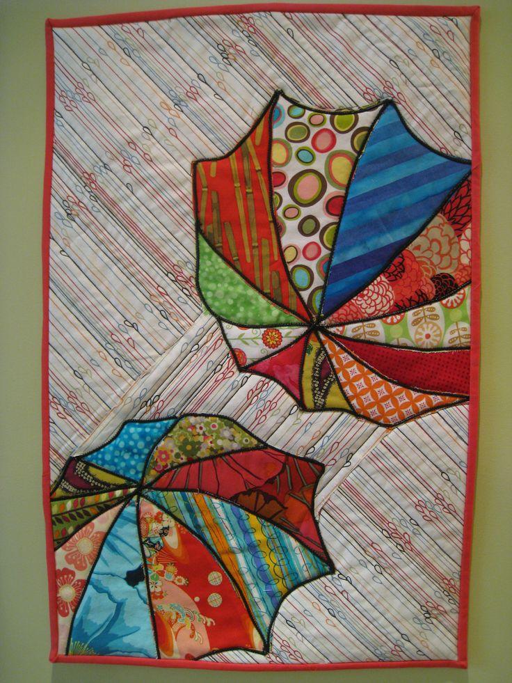 Umbrellas wall hanging.