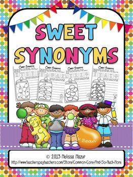 Free: Excellent synonyms activity- Sweet Synonyms