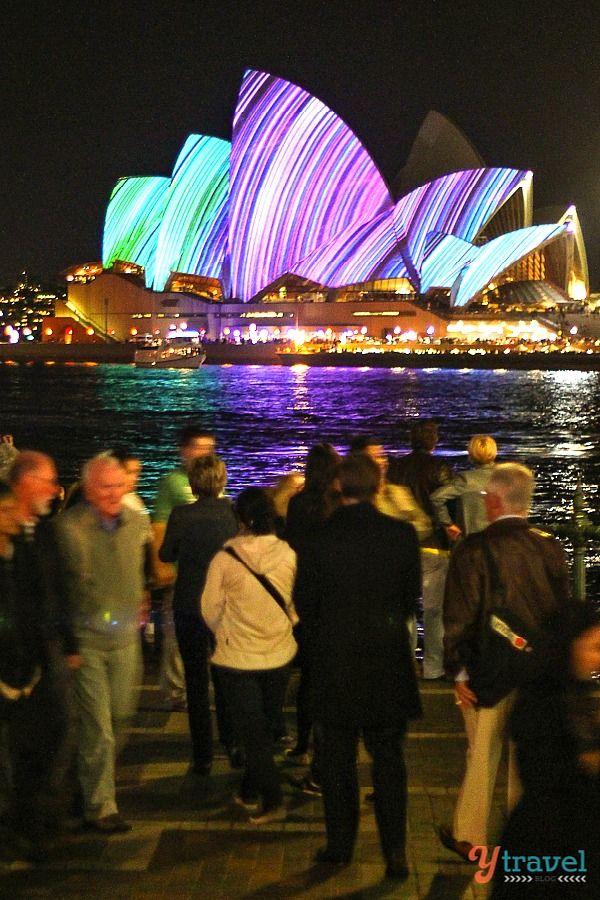 Sydney Opera House during the Vivid Sydney Festival
