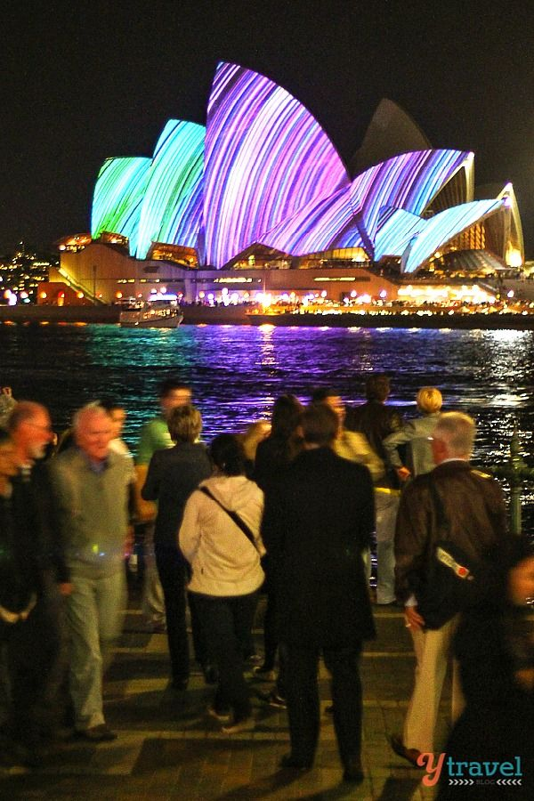 Sydney Opera House during the Vivid Sydney Festival