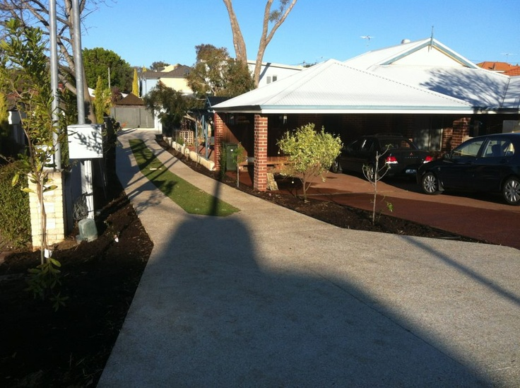 From the street - the house is invisible. Just after construction completion // 68 Dover Road, Scarborough.
