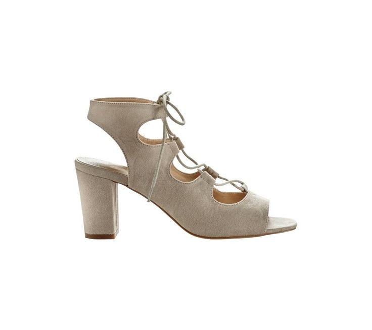Sandále so šnurovaním, na podpätku | blancheporte.sk #blancheporte #blancheporteSK #blancheporte_sk #sandals #shoes #topanky