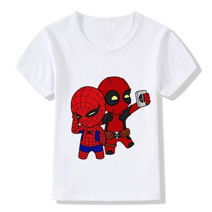 2017 Deadpool Spiderman Superhero Funny Children T-Shirts Summer Tops Toddler Boys/Girls Clothes Costumes Baby Kids Tees,HKP2238 //Price: $15.51 //     #kids