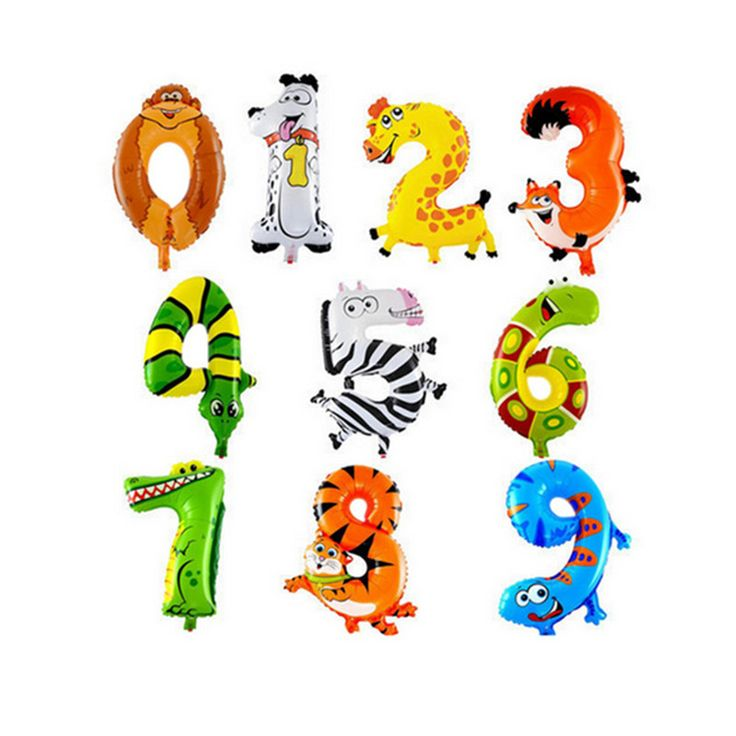 New aluminum film balloon balloon animal balloon child birthday balloon wholesale toy 0-9 #>=#>=#>=#>=#> Click on the pin to check out discount price, color, size, shipping, etc. Save and like it!