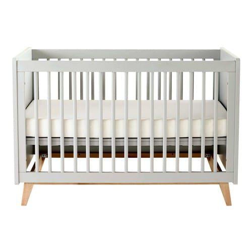 Baby-Gitterbett aus Holz grau L 126 cm