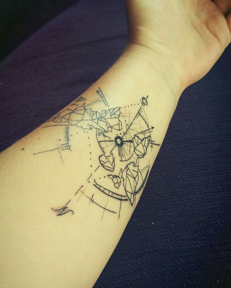 #geometric # world # tattoo  My first one
