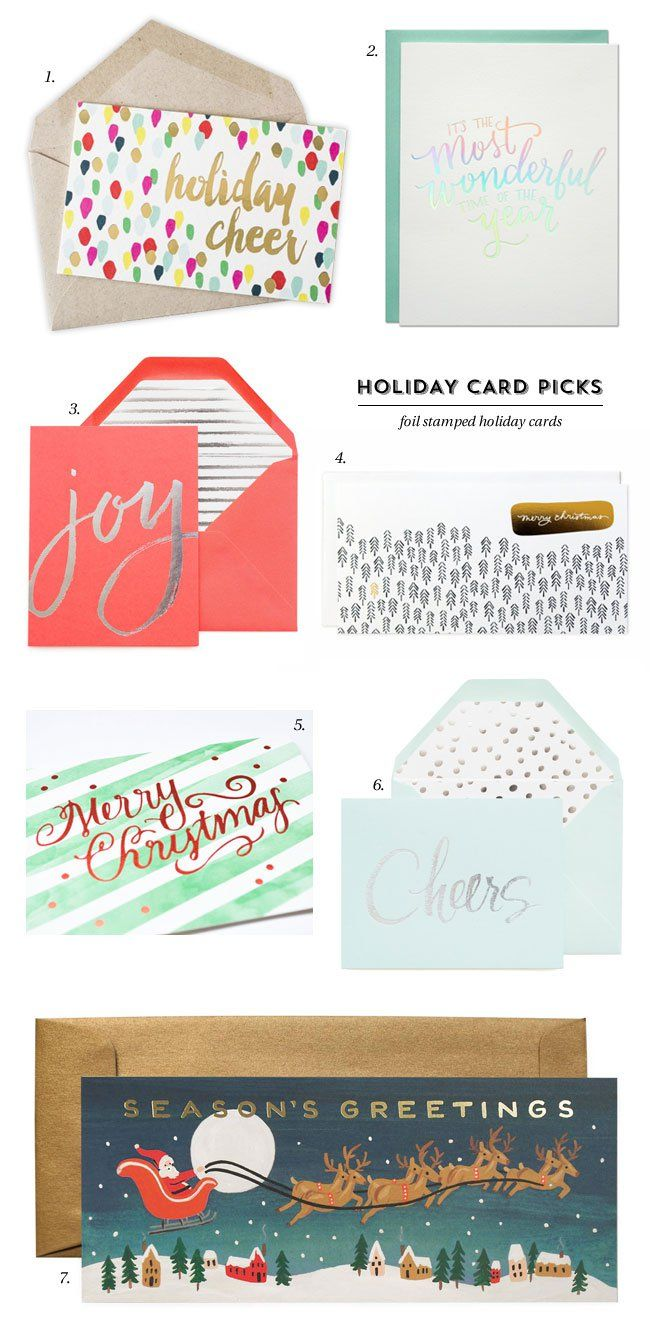 77 best greeting cards stationery images on pinterest a roundup of modern foil stamped holiday cards featuring gold foil silver foil holographic foil and red foil kristyandbryce Gallery