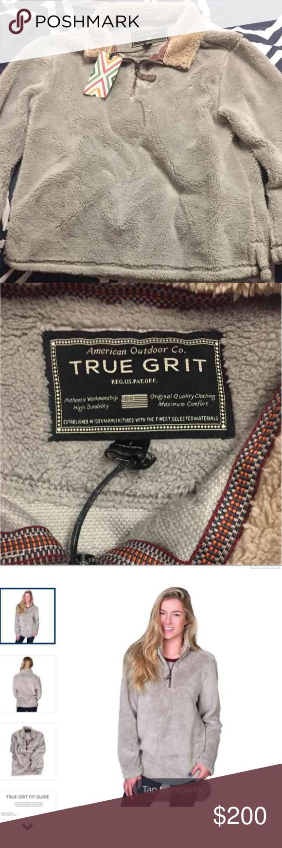 True Grit Pullover True Grit Pullover Quarter Zip, brand new just tried on! Either looking to trade for one in a frosty style or to sell True Grit Jackets & Coats