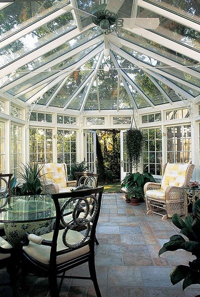 Conservatories & Sunrooms: Benefits, Uses, and Designs│Tanglewood Conservatories, Ltd., Denton, Md. http://www.luxurypools.com/blog/entryid/179/conservatories-and-sunrooms-outdoor-living-rooms-for-all-seasons.aspx