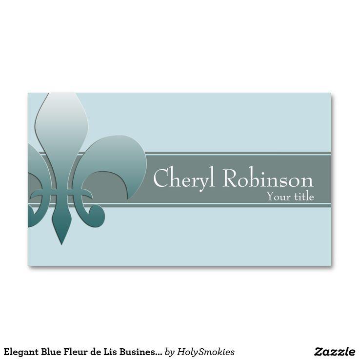 19 best fleur de lis business cards images on pinterest business elegant blue fleur de lis business card template colourmoves