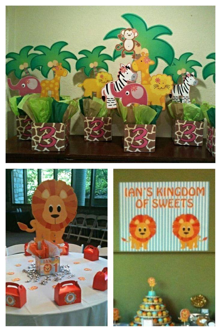 Jungle Safari Zoo Birthday Party Centerpieces