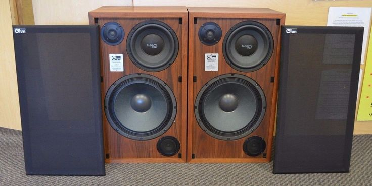 1970's Ohm Acoustics Model H Bookshelf Speakers Tested Working w Boxes | eBay