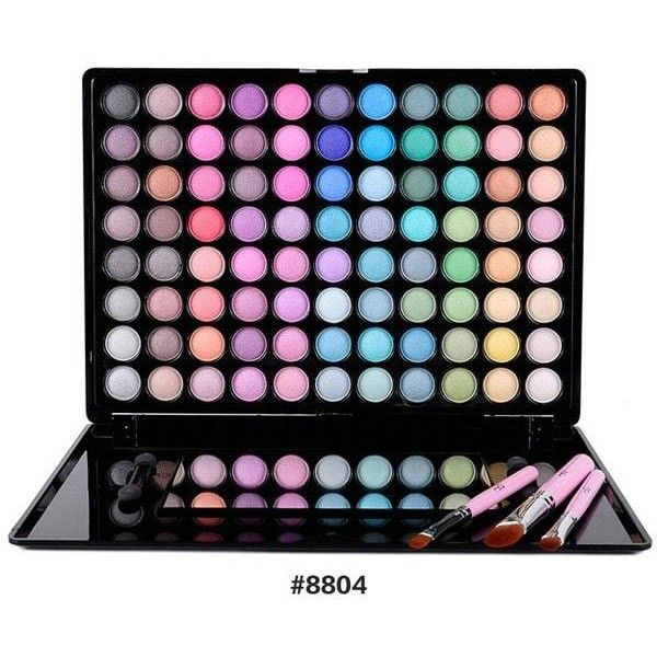88 Colours Waterproof Eyeshadow Kit (590 MKD) ❤ liked on Polyvore featuring beauty products
