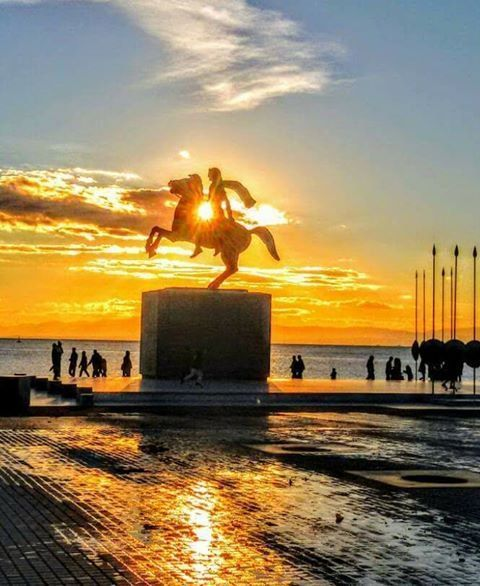 Alexander the Great protecting #Macedonia watched over by the #Olympian #Gods - #macedonianplaces Alexander the Great #Statue