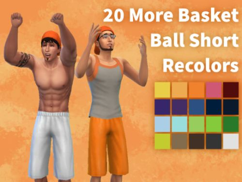 20 Basket Ball Short Recolors Download