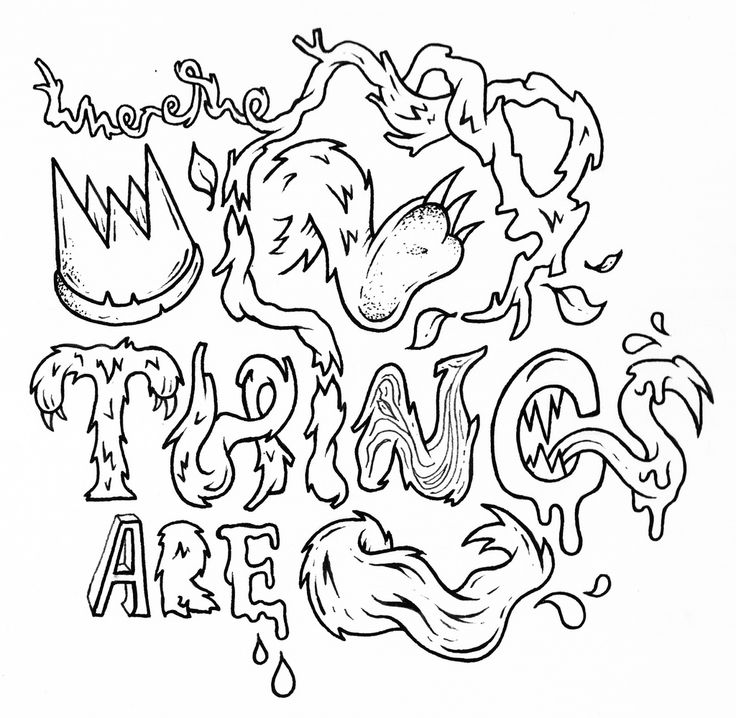 Where The Wild Things Are Coloring Pages 3 FREE