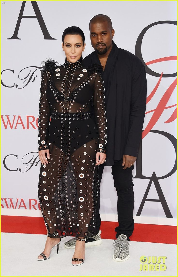 kim kardashian kanye west hottest couple at cfda awards 03 Kim Kardashian shows off her bra and underwear in a super sheer dress while hitting the 2015 CFDA Fashion Awards held at Alice Tully Hall at Lincoln Center on Monday…