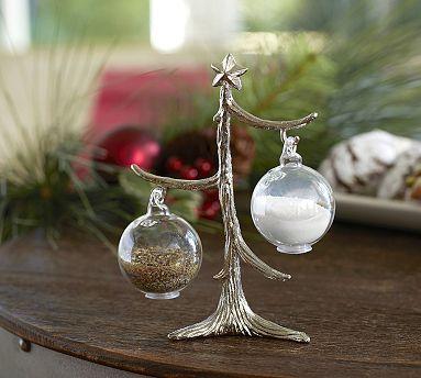 Ornament Tree Salt & Pepper Shakers #potterybarn