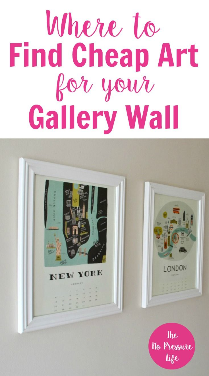 Learn where to find and how to make cheap art to fill up your empty walls if you love the look of a gallery wall but dont know where to