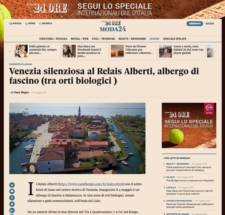 Venezia silenziosa al #relaisAlberti al Lido di Venezia (Venezia, hotel di fascino tra orti biologici e natura. Press Review