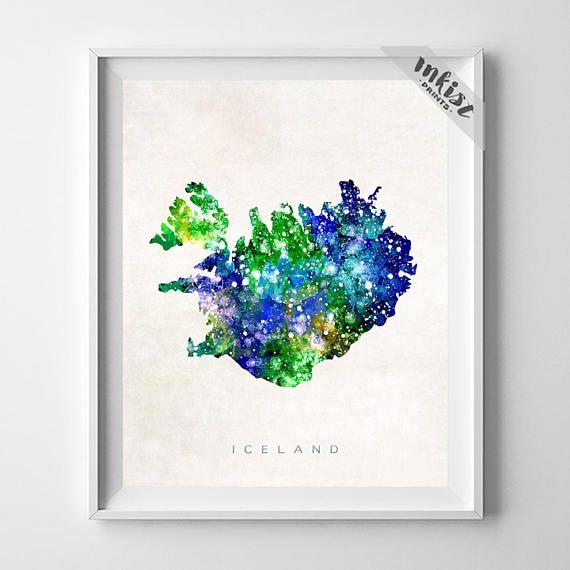 Iceland Map Print, Reykjavik Print, Iceland Poster, Reykjavik Map, Living Room Decor, Art, Map Print, Travel Poster, Christmas Gift, Wall Art. PRICES FROM $9.95. CLICK PHOTO FOR DETAILS.#inkistprints #map #watercolor #watercolour #giftforher #homedecor #nursery #wallart #walldecor #poster #print #christmas #christmasgift #weddinggift #nurserydecor #mothersdaygift #fathersdaygift #babygift #valentinesdaygift #dorm #decor #livingroom #bedroom
