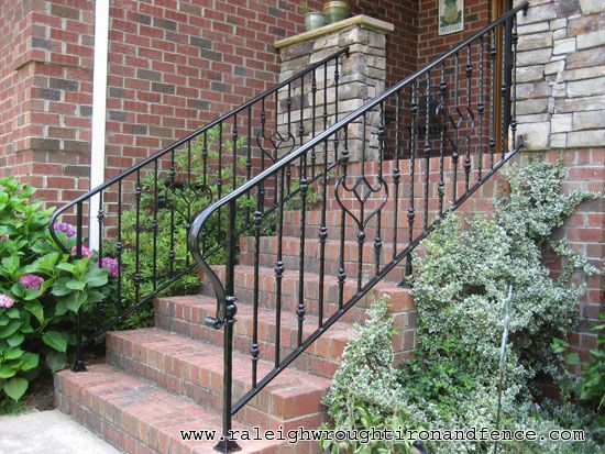 7 best front step hand rails images on pinterest front for Porch durham