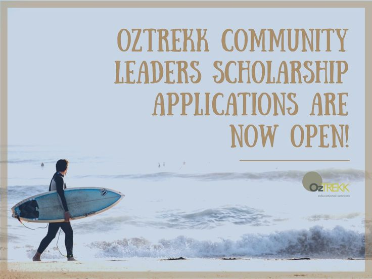 Find out more about OzTREKK scholarships!