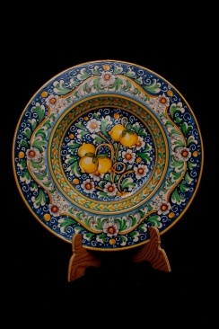 The priests hat plate with lemons | Touch of Sicily Visit our on-line shop at www.touchofsicily.it now!
