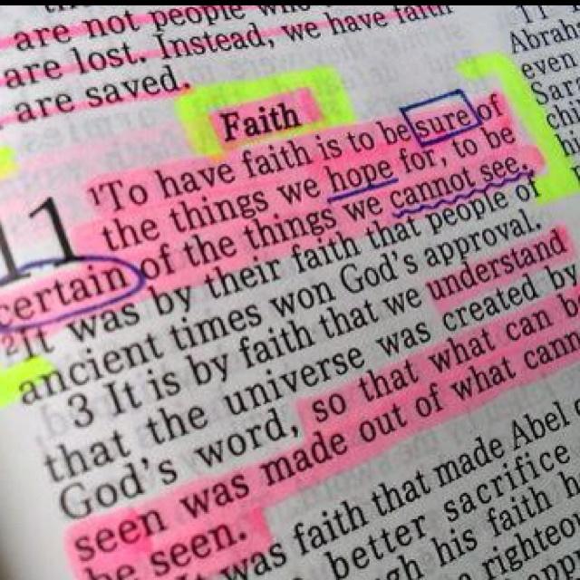 Hebrews 11:1 My Favorite!