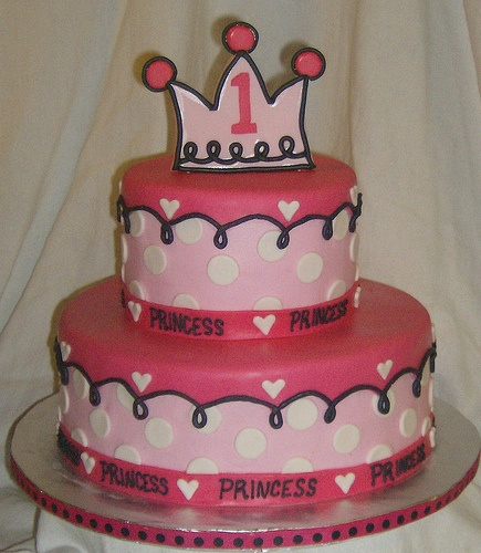 pink princess cake cute