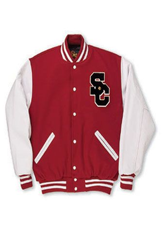 We have great varsity jackets in many colors. http://www.acuplusamerica.com/product/jv-jacket-adult/