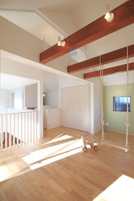 子供部屋事例:子供部屋(月見台のある家)