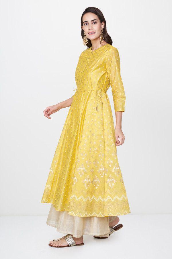 8a7d55ee22 Yellow Rehnuma Kurta in 2019 | Vivek fashion | Indian designer wear ...