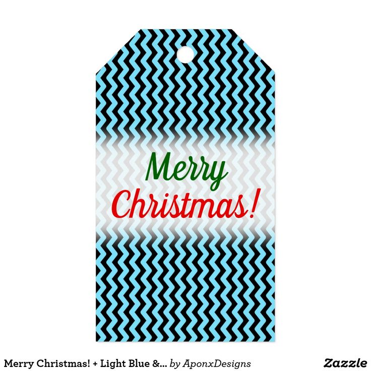 Merry Christmas! + Light Blue & Black Wave Pattern