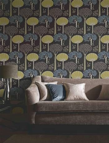 Wallpaper for the chimney breast in the dining room?