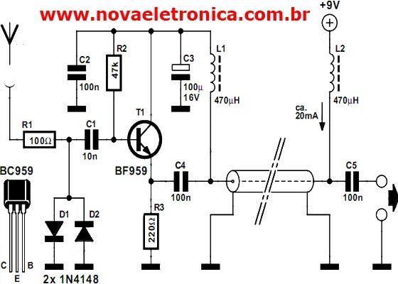 Amplificador de Antena Ativa para Radios de Ondas Curtas