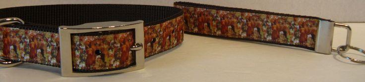 Camoflauge Vizsla Ribbon Collar-Vizsla Custom Ribbon-Ginger Dog, Hunting Bird Dog Collar, Sporting and Pointer Dog-Matching Leash-Key Fob by ZAMORAS on Etsy