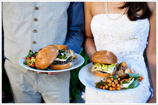100 determined to have gourmet burgers as my wedding food