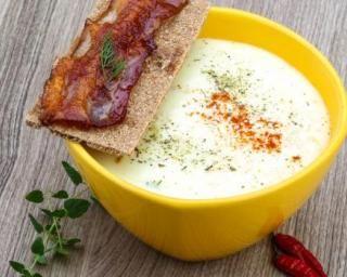 Gaspacho au chou-fleur au piment d'espelette