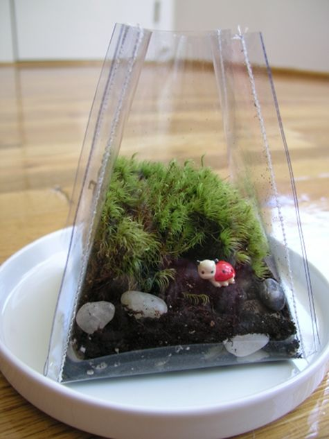 DIY Sew a Terrarium by Brett Bara via designsponge: Made with clear vinyl and some nicks and tucks. #Terrarium #Brett_Bara #designsponge