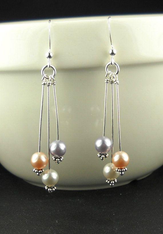 ensemble collier et boucles d'oreilles avec perles Swarovski