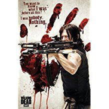 """The Walking Dead Poster - Bloody Hand/Daryl Dixon (24""""x36"""")  AT http://amzn.to/2s4DIjE"""