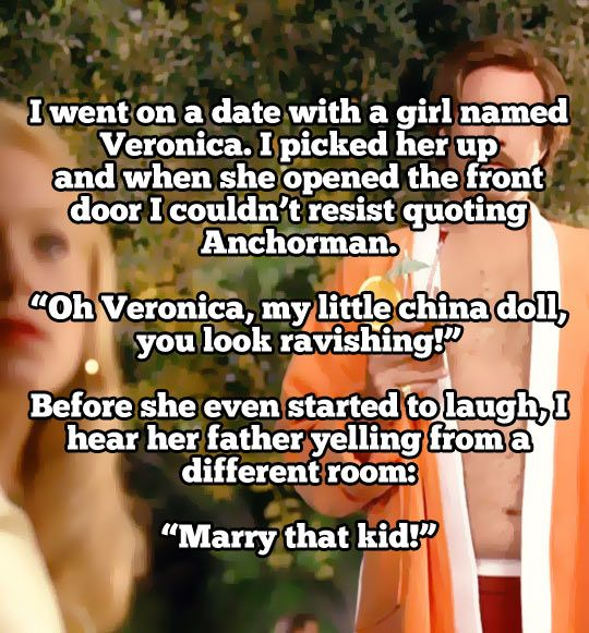 I went on a date with a girl named Veronica... Lol this funny
