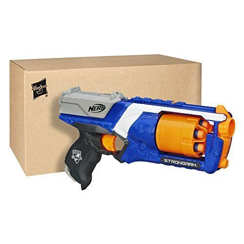 Elite Strongarm Nerf N Strike Blaster Dart Gun 6 Darts Fire Toy Kids By Hasbro  #Nerf